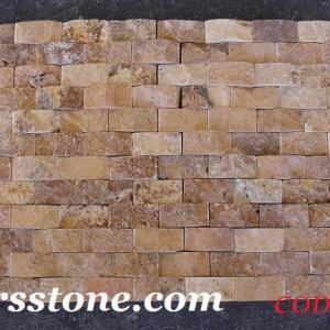 Travertine gold splitface stone tiles